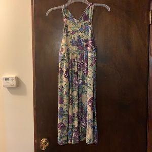 KC Parker Floral Bibbed Overall Dress Sz 8